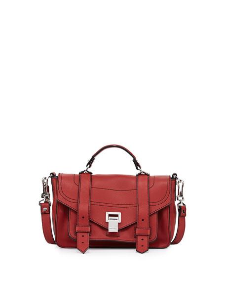 PS1 Tiny Leather Satchel Bag, Brick