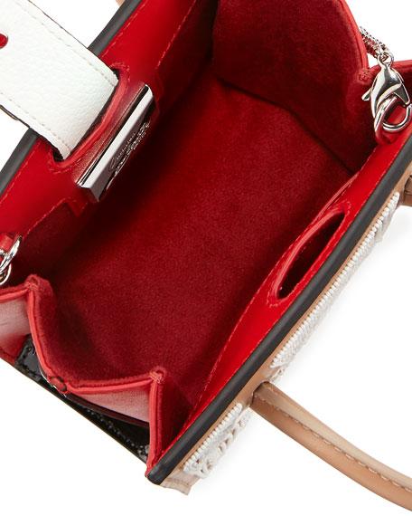 Paloma Nano Beaded Tote Bag, Flesh