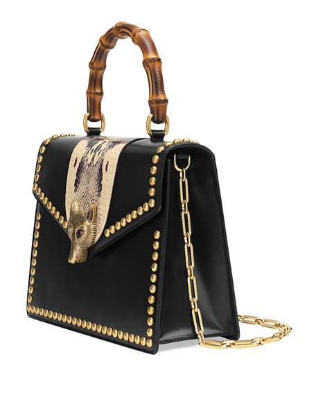 Linea E Studded Top-Handle Bag