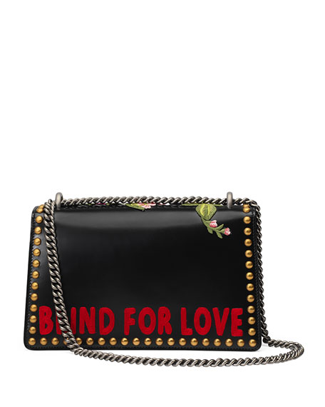 Dionysus Small Embroidered Shoulder Bag, Black/Multi