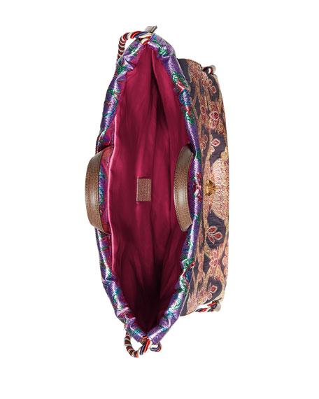 2caefd610226 Gucci Modern Future Small Brocade Drawstring Backpack