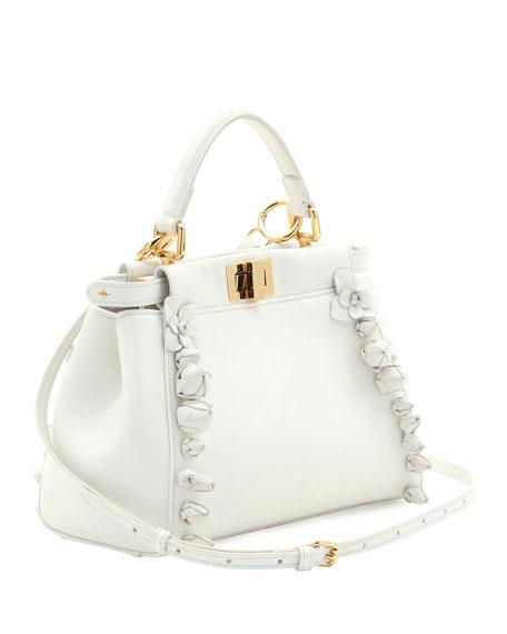 5bdc407c6f05 Fendi Mini Peekaboo Floral-Embellished Satchel Bag