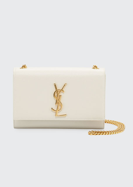 586ad05a3d2 Saint Laurent Kate Monogram YSL Small Grain Leather Crossbody Bag
