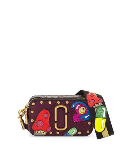 Snapshot Mushroom Leather Camera Bag, Pink