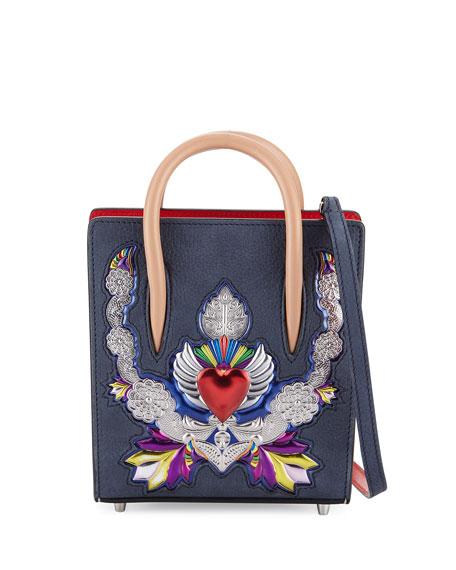 Paloma Nano Leather Tote Bag, Black