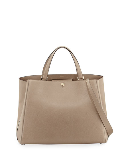 Brera Large Leather Top-Handle Tote Bag