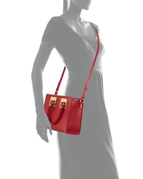 Medium Leather Box Tote Bag