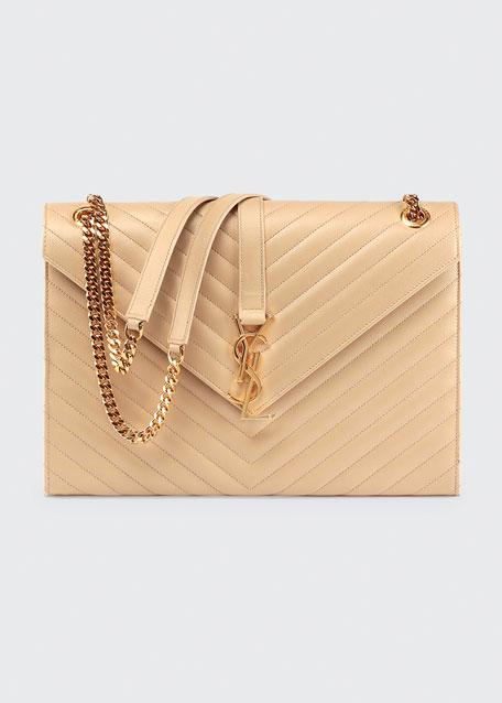 Saint Laurent Monogram Large Matelasse Shoulder Bag