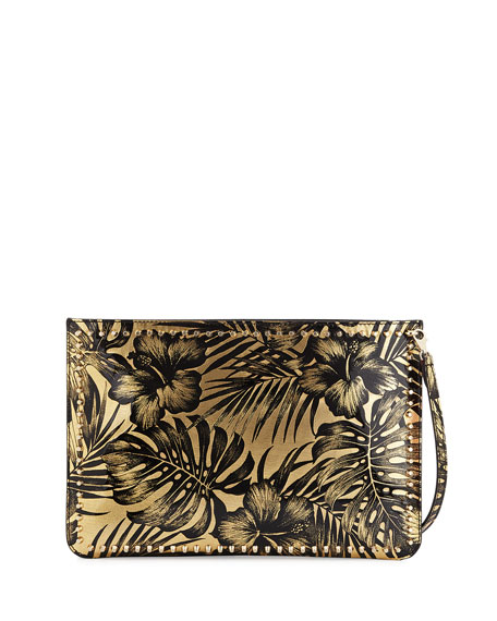 Christian Louboutin Loubiclutch Lamé Clutch Bag, Black/Gold