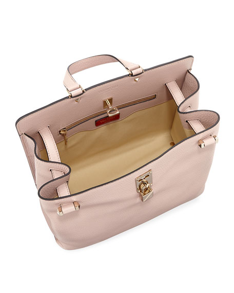 Joylock Medium Leather Satchel Bag