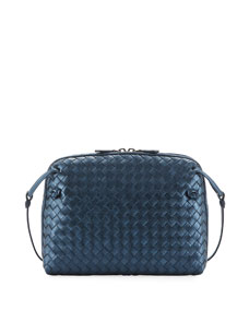 5885be718566 Bottega Veneta Veneta Small Woven Messenger Bag