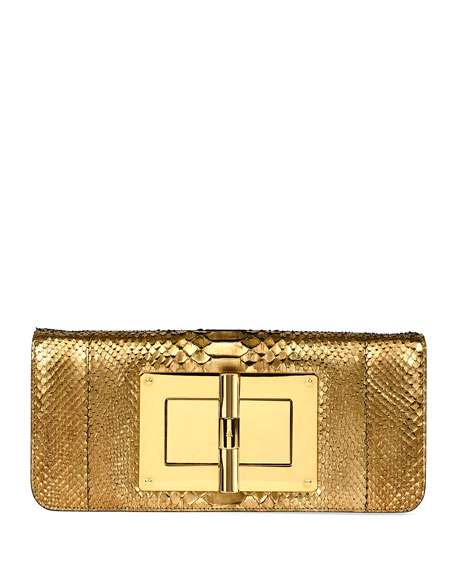 Natalia Long Cosmo Python Clutch Bag