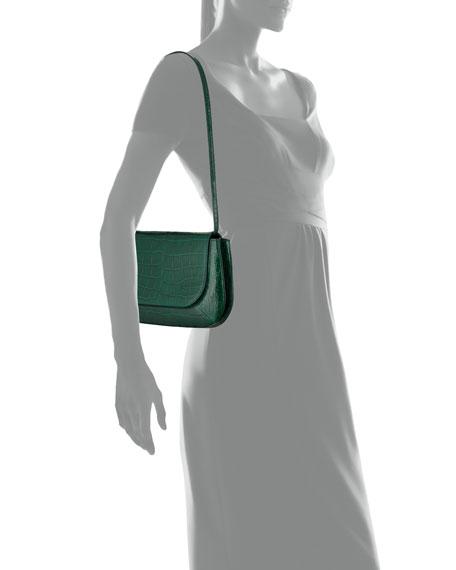 Fan Bag 10 Alligator Shoulder Bag, Green