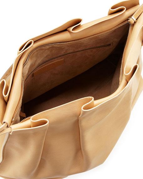 Wander Pleated Leather Shoulder Bag