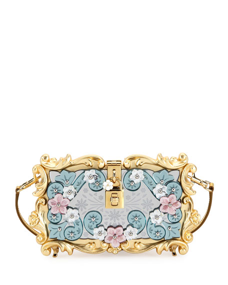 d314e7d2dc8c Mirrored Baroque Dolce Box Bag Medium Yellow