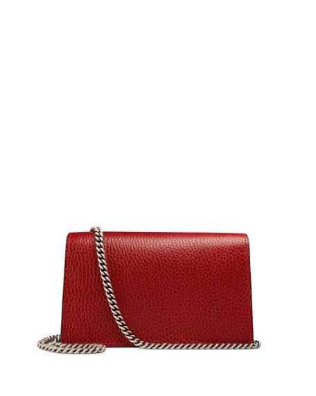 Dionysus Leather Super Mini Bag, Red