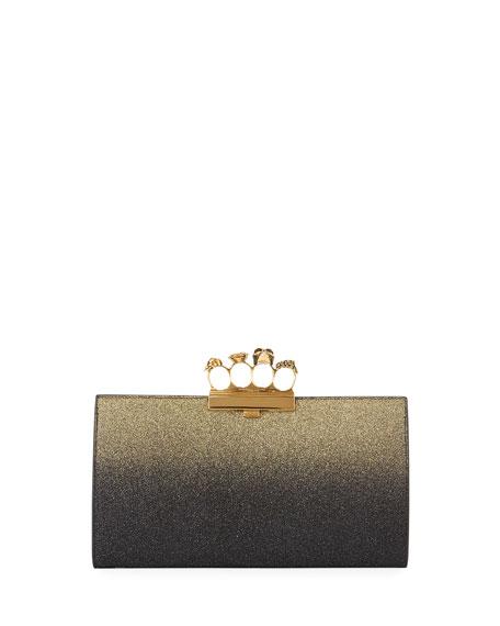 Glitter Ombre Flat Knuckle Clutch Bag