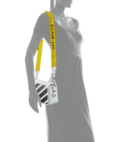 b54fe3abeca95 Off-White Diagonal Striped Leather Shoulder Bag