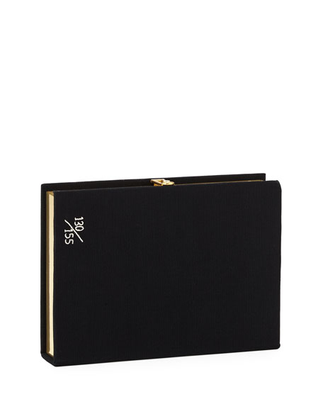 Psycho Book Clutch Bag, Black