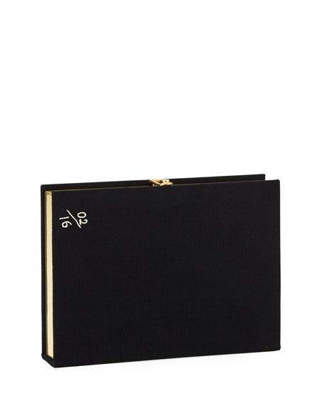 Le Mystère de la Chambre Jaune Book Clutch Bag, Black