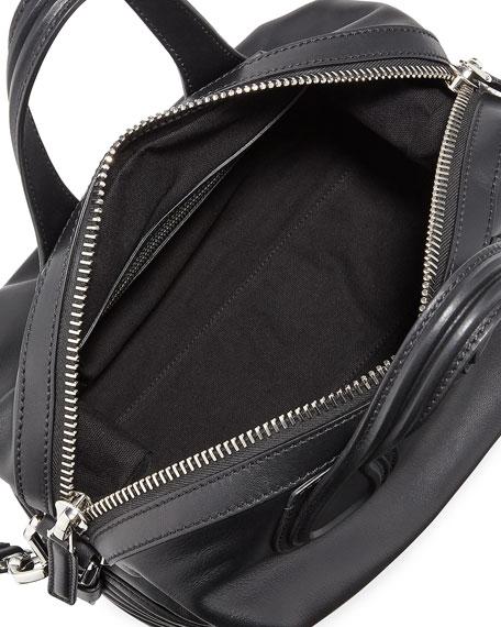 Nightingale Small Leather Biker-Stitch Satchel Bag