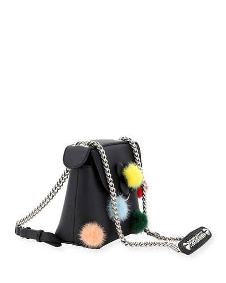 Back to School Mini Mink Pompom Backpack/Crossbody Bag