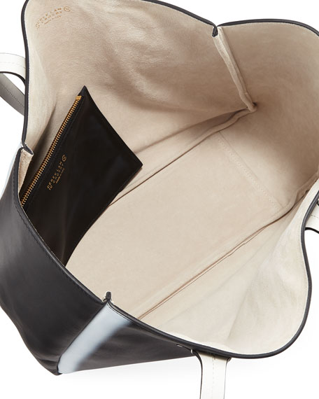 Bond East West Tote Bag, Black/White