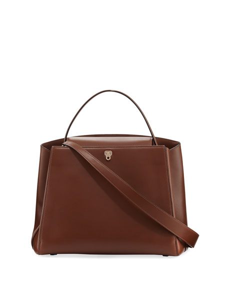 Triennale Leather Top-Handle Bag