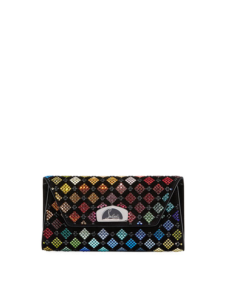 Image 1 of 1: Vero Dodat Harlequin Strass Clutch Bag
