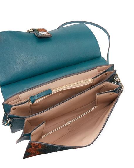 Faye Medium Python Shoulder Bag