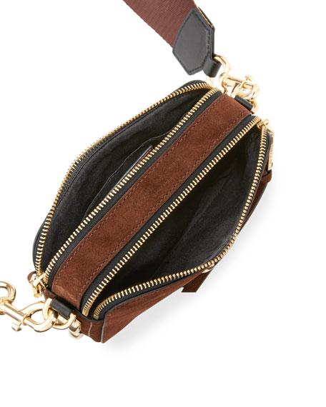 Chain Snapshot Suede Shoulder Bag