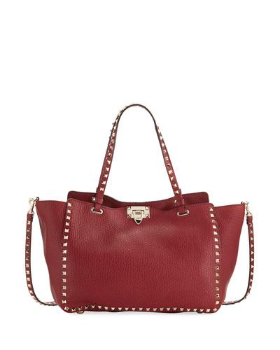 Rockstud Medium Leather Tote Bag