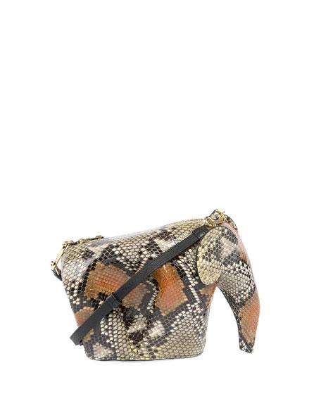 Snakeskin Elephant Mini Bag, Yellow