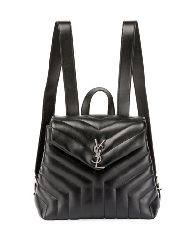 e20c25da9e1a Saint Laurent Monogram YSL Loulou Small Y-Quilted Leather Backpack ...