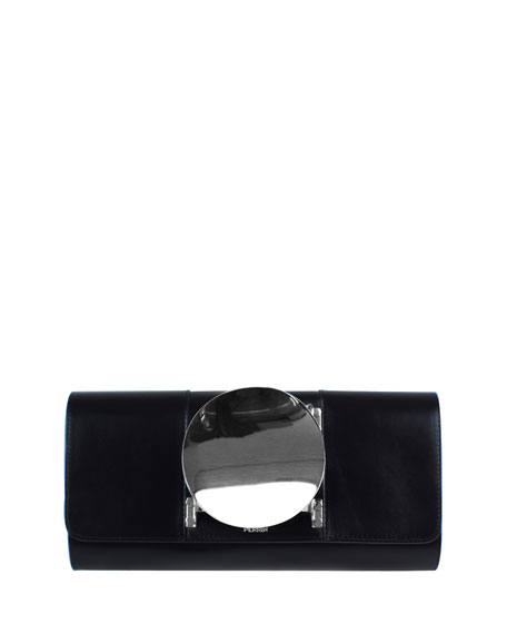 Le Disc Clutch Bag, Black