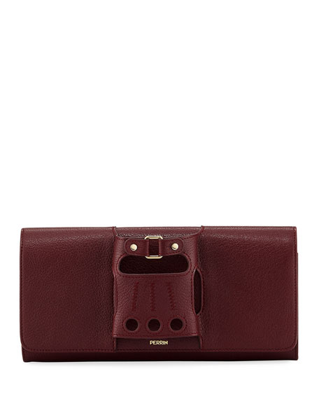 Perrin Paris Le Cabriolet Calf Leather Clutch Bag