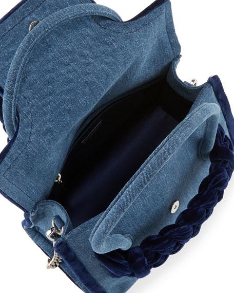Denim Top-Handle Satchel Bag
