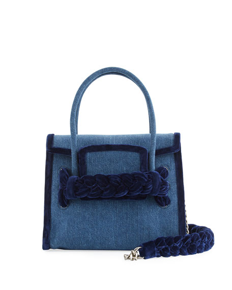 Denim Top-Handle Satchel Bag