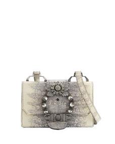 8bebce3b8a32 Miu Miu Lady Jeweled Leather Shoulder Bag