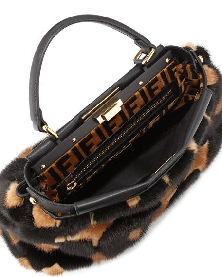 Peekaboo Medium Mink Fur Satchel Bag