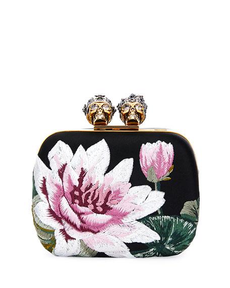 Queen Queen Mini Clutch Bag, Black Pattern