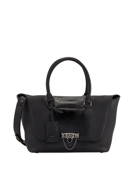 Demilune Small Double-Handle Patent Bag