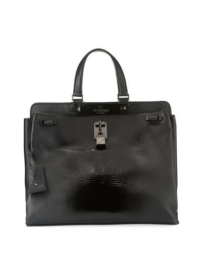 Joylock Medium Patent Top-Handle Bag