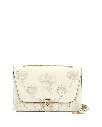Demilune Embellished Shoulder Bag