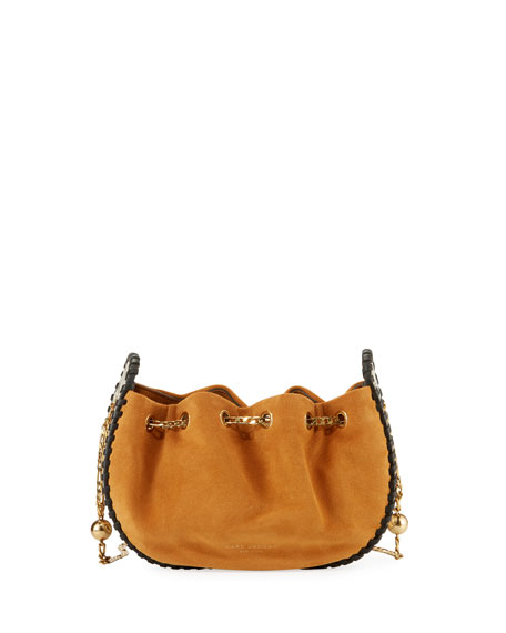 Sway Leather Woven Crossbody Bag