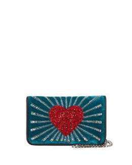 Ginny Beaded Heart Clutch Bag