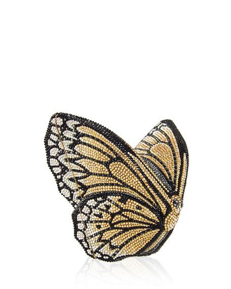 Monarch Crystal-Studded Clutch Bag
