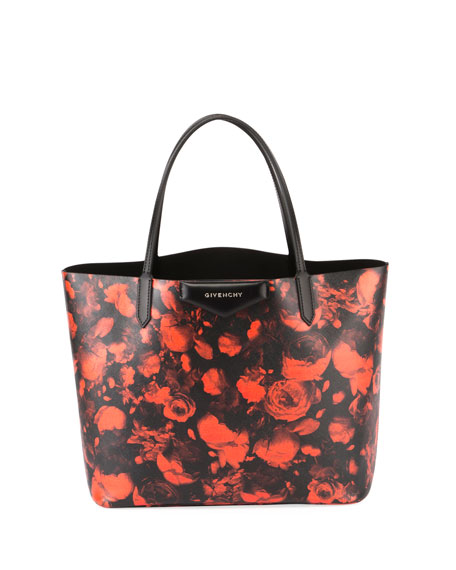 Antigona Large Rose-Print Tote Bag