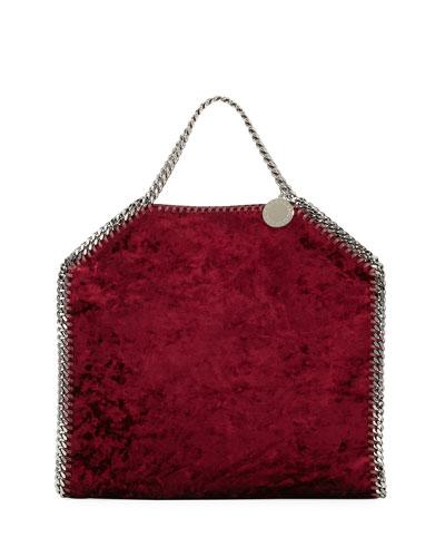 Falabella 3-Chain Fold-Over Velvet Tote Bag