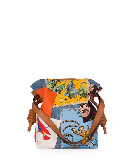 Flamenco Knot Patchwork Bag, Multi Pattern